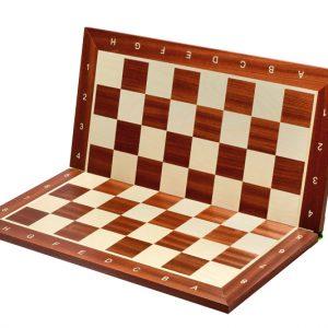 Deska szachowa składana nr 6 (z opisem) mahoń/jawor (intarsja)