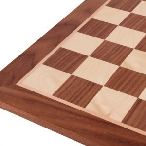 Deska szachowa Nr 4+ (bez opisu) orzech/jawor (intarsja)