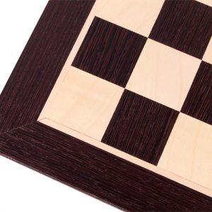 Deska szachowa nr 6+ (bez opisu) wenge/jawor (intarsja)