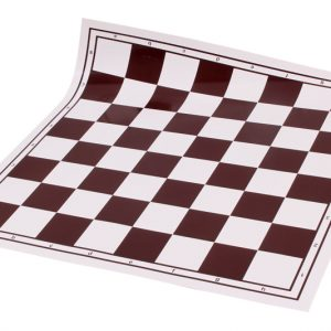 Zwijana, winylowa deska szachowa, biało - brązowa
