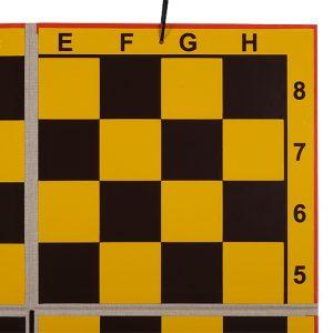 SZACHY DEMONSTRACYJNE MAGNETYCZNE - dwukrotnie składane, dołączone figury