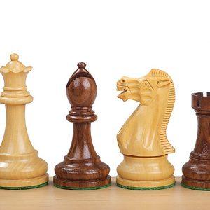 Figury szachowe Executive Akacja indyjska/Bukszpan 3,75 cala