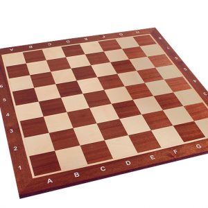 Deska szachowa nr 6+ (z opisem) mahoń/jawor (intarsja)