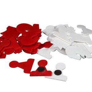 Figury do szachów demonstracyjnych- białe/czerwone