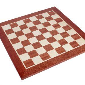 Deska szachowa nr 6+ (bez opisu) mahoń/jawor (intarsja)