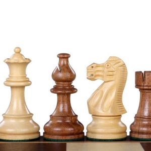 Figury szachowe American Classic Akacja/Bukszpan 3,75 cala
