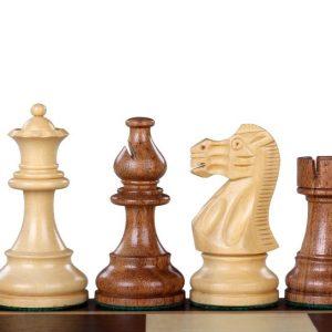 Figury szachowe American Classic Akacja/Bukszpan 3,5 cala Rzeźbione Drewniane