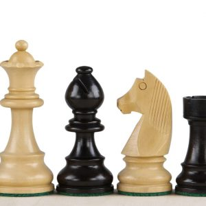 Figury szachowe German (Timeless) 3,5 cala Rzeźbione Drewniane