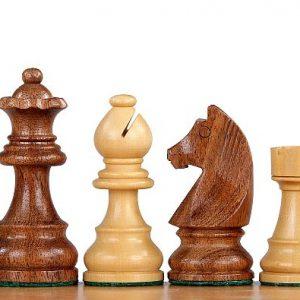 Figury szachowe German (Timeless) Akacja indyjska/Bukszpan 3 cale Rzeźbione Drewniane