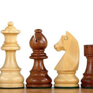 Figury szachowe German (Timeless) Akacja indyjska/Bukszpan 3,5 cala Rzeźbione Drewniane