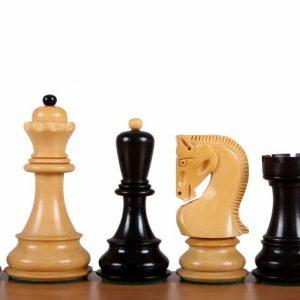 Figury szachowe Zagreb 3,75 cala hebanizowane Rzeźbione Drewniane