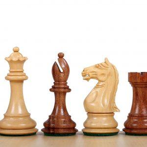Figury szachowe Supreme Akacja indyjska/Bukszpan 3,75 cala