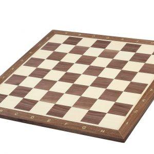 Deska szachowa nr 5+ (z opisem) orzech/jawor (intarsja)