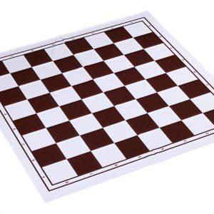 Składana plastikowa deska szachowa, biało - brązowa
