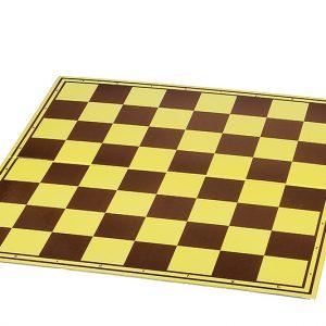 Szachownica tekturowa Turniejowa, żółto - brązowa, matowa, zmywalna powierzchnia