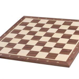 Deska szachowa nr 6+ (z opisem) orzech/jawor (intarsja)