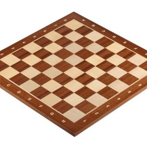 Deska szachowa nr 5+ (z opisem) mahoń/jawor (intarsja)