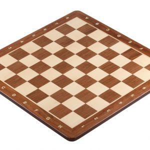Deska szachowa nr 5 (z opisem) paduk/klon (intarsja) - okrągłe rogi