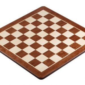 Deska szachowa nr 5 (bez opisu) paduk/klon (intarsja) - okrągłe rogi