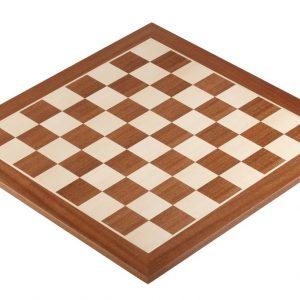 Deska szachowa nr 4 (bez opisu) mahoń/jawor (intarsja)