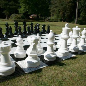 Zestaw do szachów plenerowych / ogrodowych (król 64 cm) - figury + szachownica plastikowa
