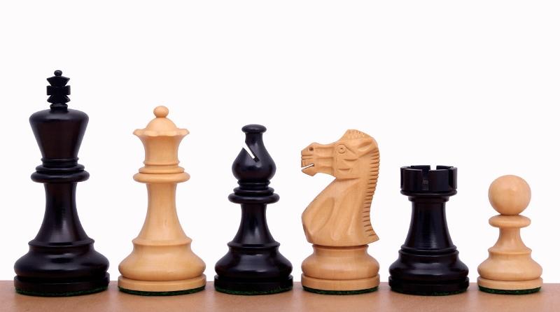 Figury szachowe American Classic 4 cale Rzeźbione Drewniane