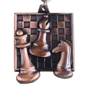 Medal szachowy kwadratowy - brązowy