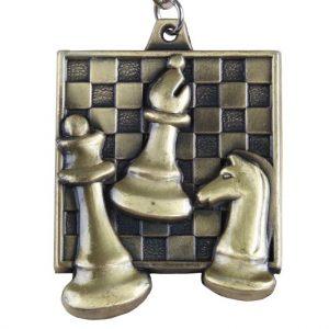 Medal szachowy kwadratowy - złoty