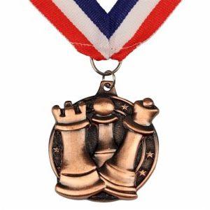 Medal szachowy okrągły - złoty