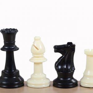 Figury szachowe nr 6 plastikowe, obciążane