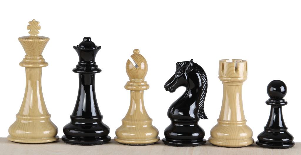 Ekskluzywne figury szachowe 4,25 cala - obciążane
