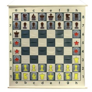 SZACHY DEMONSTRACYJNE ZWIJANE XXL - WTYKANE (szachownica + figury + torba)