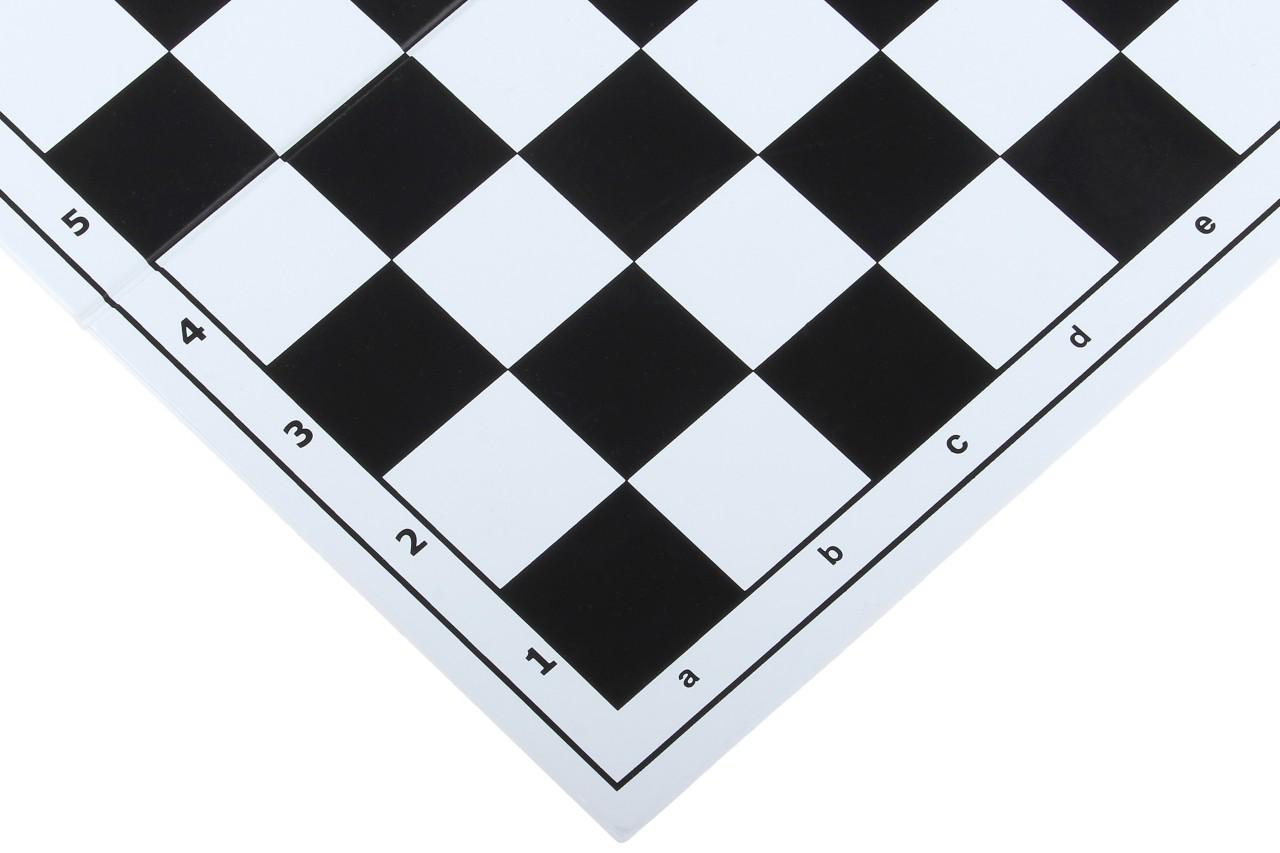 Szachownica plastikowa składana nr 4, biało - czarna