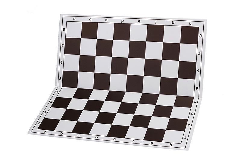 Szachownica plastikowa składana nr 4+, biało - czarna