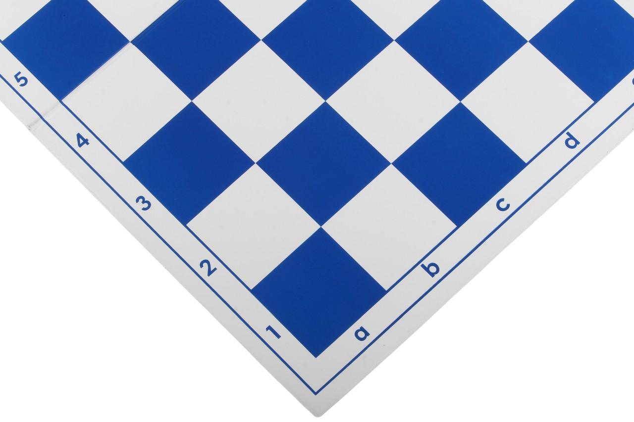 Szachownica plastikowa składana nr 4+, biało - niebieska