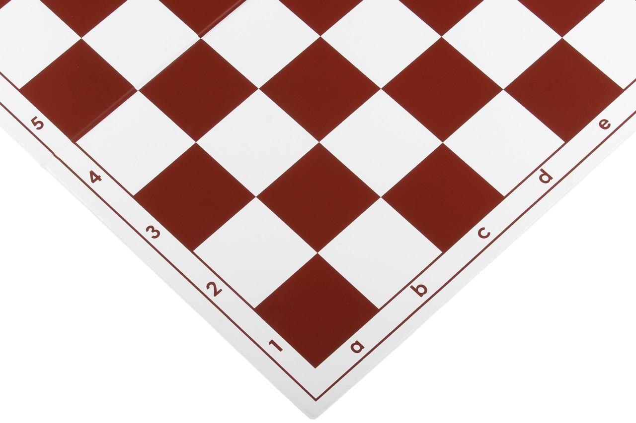 Szachownica plastikowa składana nr 6, biało - czerwona