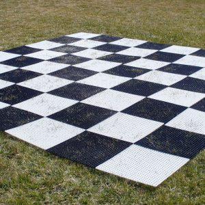 Szachownica plastikowa do szachów plenerowych / ogrodowych (pole 36 cm)