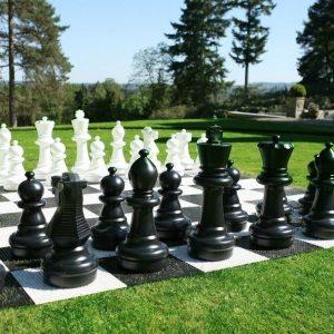 Figury plastikowe do szachów plenerowych / ogrodowych (wysokość króla 64 cm)