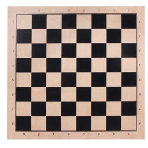Dwustronna deska: Szachy + młynek, jawor, czarny nadruk