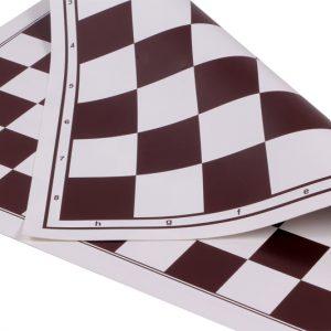 Szachownica zwijana, dwustronna: szachy + 100 polowe warcaby, biało - brązowa