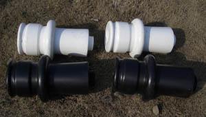 Zestaw podwyższający plastikowe figury do szachów plenerowych / ogrodowych